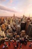 Нью-Йорк от центра Рокефеллер стоковые изображения