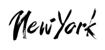Нью-Йорк, стиль современной щетки каллиграфический каллиграфия вектора Плакат оформления Годный к употреблению как предпосылка Стоковая Фотография