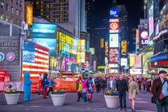 Нью-Йорк США времен квадратный Стоковое Изображение