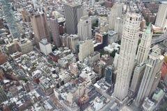 НЬЮ-ЙОРК, США 18,2018 -ГО ИЮНЬ: Вид с воздуха Нью-Йорка от одного стоковые изображения
