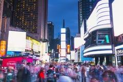 Нью-Йорк, США, 09-03-17: долгая выдержка известного squre времени на ni Стоковая Фотография RF