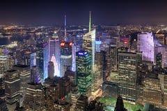 Нью-Йорк, США - Нью-Йорк расположенный на окраине города и Таймс площадь Стоковое фото RF