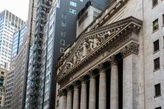 Нью-Йорк/США - 22-ое августа 2018: Нью-йоркская биржа и o стоковые изображения