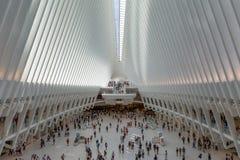 Нью-Йорк/США - 18-ое июля 2018: Всемирный торговый центр Transporta стоковая фотография