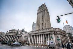 Нью-Йорк, США - 29-ое марта 2018: Здание суда Соединенных Штатов стоковое фото rf