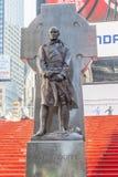 Нью-Йорк, США 20-ое мая 2014 Статуя отца Фрэнсиса d Du Стоковое Изображение
