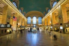 НЬЮ-ЙОРК, США - 27-ОЕ НОЯБРЯ 2017: Грандиозный центральный стержень GCT, стоковые изображения rf