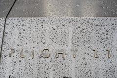 НЬЮ-ЙОРК, США - 22-ОЕ НОЯБРЯ: Деталь 9/11 мемориальных мемориалов внутри Стоковые Изображения RF