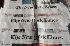 Нью-Йорк Таймс ежедневно стоковое фото