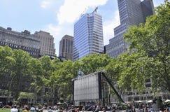 Нью-Йорк, 3-ье августа: Парк Bryant от Манхаттана в Нью-Йорке Стоковая Фотография RF