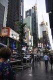 Нью-Йорк, 3-ье июля: Таймс площадь к ноча в центре города Манхаттане от Нью-Йорка в Соединенных Штатах Стоковое Изображение RF