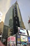 Нью-Йорк, 3-ье июля: Таймс площадь к ноча в центре города Манхаттане от Нью-Йорка в Соединенных Штатах Стоковые Изображения