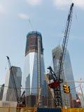 Конструкция всемирного торгового центра, нью-йорк Стоковые Изображения
