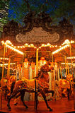Нью-Йорк: carousel в парке Bryant на Septenber 14, 2014 Стоковая Фотография