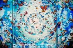 НЬЮ-ЙОРК, NY - 6-ОЕ СЕНТЯБРЯ: Предпосылка взлётно-посадочная дорожка на собрании Весн-лета 2015 ЛОЖ SANGBONG Стоковые Изображения RF