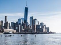 Нью-Йорк, NY/United States-=Feb 22, 2016: Взгляд городского fr стоковые фотографии rf