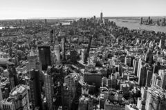 Нью-Йорк Scape от Эмпайр-стейт-билдинг Нью-Йорка стоковые фотографии rf