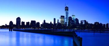 Нью-Йорк Skylinet, США Стоковые Изображения RF