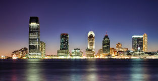 Нью-Джерси в ноче Стоковые Фото