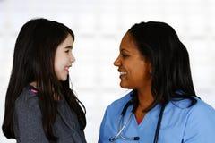 Нюна и пациент стоковое фото rf