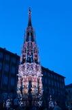 Нюрнберг, Германия - умирает Blaue Nacht 2012 Стоковые Изображения RF