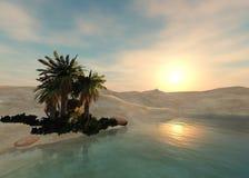 Оазис в песочной пустыне