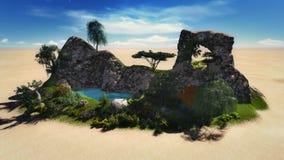 Оазис в пустыне Стоковые Изображения RF