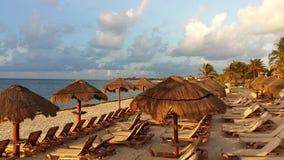 Оазис Tulum пляжа Стоковая Фотография RF
