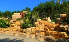 ОАЭ Дубай Территория аквапарк на гостинице Атлантиды Стоковые Фото