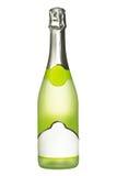 добавьте белизну текста ярлыка бутылки предпосылки пустым изолированную шампанским Стоковая Фотография