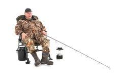 добавьте рыболовство рыболова конца как линия штанга к все, что угодно вы Стоковая Фотография RF