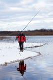 добавьте рыболовство рыболова конца как линия штанга к все, что угодно вы стоковое изображение rf
