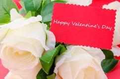 добавлять Валентайн текста дня счастливое совершенное s карточки Стоковые Фотографии RF