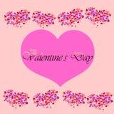 добавлять Валентайн текста дня счастливое совершенное s карточки Стоковая Фотография RF