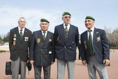 Обань, Франция 11-ое мая 2012 Портрет ветеранов французского иностранного легиона во время ежегодного собрания ветеранов Стоковое Фото
