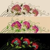 оба бабочка смогите комбинация содержит вертикаль декоративных флористических форм орнамента ориентаций цветка горизонтальных сти Стоковая Фотография RF