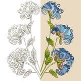 оба бабочка смогите комбинация содержит вертикаль декоративных флористических форм орнамента ориентаций цветка горизонтальных сти Стоковое Изображение RF