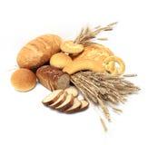 обваливает хлебцы в сухарях Стоковая Фотография