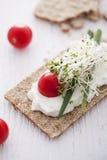 обвалите хрустящий сандвич в сухарях Стоковые Фотографии RF