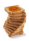 обвалите toasted варенье в сухарях стоковое фото rf