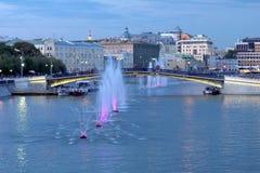Обваловка болота, мост Luzhkov стоковая фотография