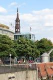Обваловка порта Binnenhafen в городе Гамбурга Стоковое фото RF