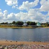 Обваловка Пскова - обваловка реки большого стоковые фотографии rf