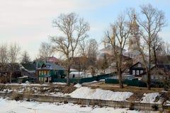 Обваловка реки Kimrka Стоковое Фото