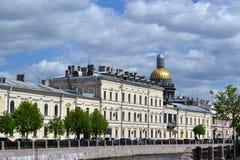 Обваловка реки Moika Санкт-Петербурга Стоковое Фото
