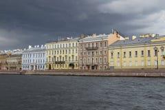 Обваловка Fontanka в Петербурге Стоковое Изображение RF