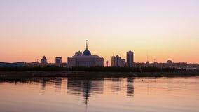 Обваловка в вечере astana kazakhstan сток-видео