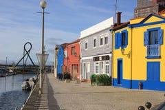 Обваловка в малом португальском городке Стоковое фото RF