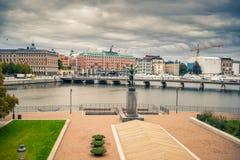 Обваловка в центральной части Стокгольма Стоковое Изображение RF