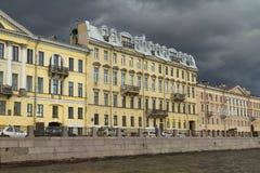 Обваловка Fontanka в Петербурге Стоковая Фотография RF